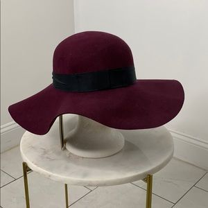 Topshop burgundy wool hat